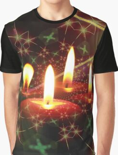 Christmas Candle Graphic T-Shirt