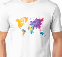 World map in watercolor 22 Unisex T-Shirt