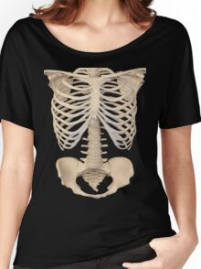 halloween Gothic Anatomy Rib Cage bones human skeleton  Women's Relaxed Fit T-Shirt