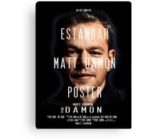 Estandar Matt Damon Poster Canvas Print