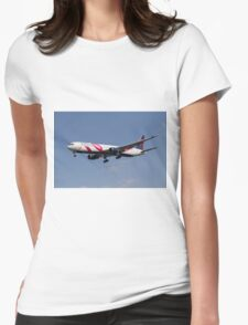 Delta Airlines Boeing 767 Womens Fitted T-Shirt
