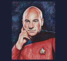 Captain Picard Portrait - Star Trek Art T-Shirt