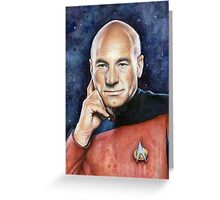 Captain Picard Portrait - Star Trek Art Greeting Card