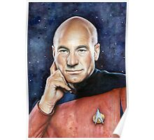 Captain Picard Portrait - Star Trek Art Poster