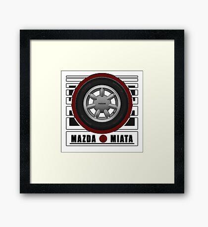 Mazda Miata Daisy Wheel Framed Print