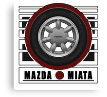 Mazda Miata Daisy Wheel Canvas Print