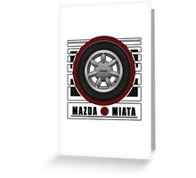 Mazda Miata Daisy Wheel Greeting Card