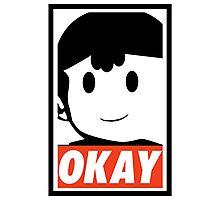 "Ness OKAY (""OBEY"") Photographic Print"