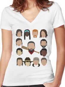 Who did Negan kill? Women's Fitted V-Neck T-Shirt