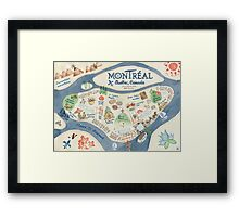 Map of Montreal, Canada Framed Print