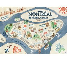 Map of Montreal, Canada Photographic Print