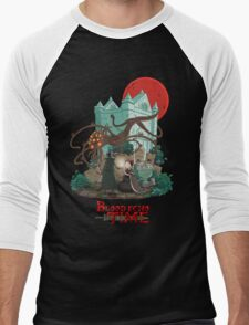 Blood Echo Time Men's Baseball ¾ T-Shirt