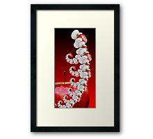 apple worm Framed Print
