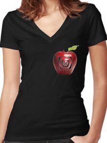 growing apples from apples Women's Fitted V-Neck T-Shirt