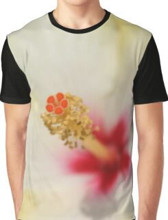 Stamen With Yellow Hibiscus Petal Background Graphic T-Shirt