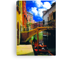 HDR in venice 1 Canvas Print