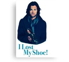 supernatural sam winchester jared padalecki moose i lost my shoe Canvas Print