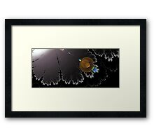 night trees Framed Print