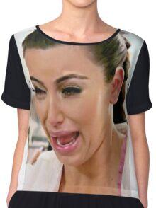 Kim Kardashian Crying Face Meme Chiffon Top