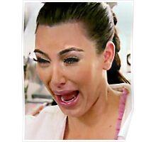 Kim Kardashian Crying Face Meme Poster