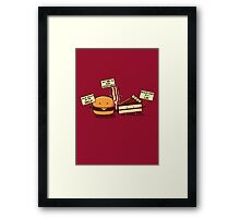 Occupy Stomach Framed Print