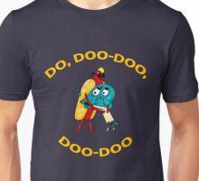 Hot Dog Guy and Gumball Awkwardly Hugging Unisex T-Shirt