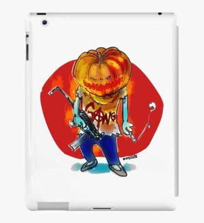 gang squad member pumpkin head with gun iPad Case/Skin