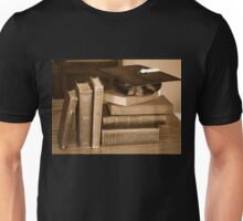 Classic Books And Mortar Board Unisex T-Shirt