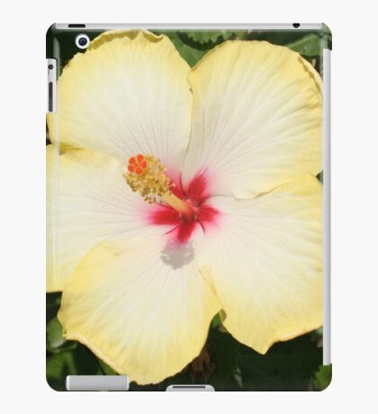 Pale Yellow Hibiscus Flower - Front View iPad Case/Skin