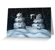 Mean Snowman Greeting Card