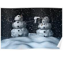 Mean Snowman Poster