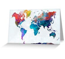World map in watercolor 24 Greeting Card