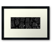 bike chain flowers Framed Print