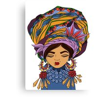 Girl in African style Canvas Print
