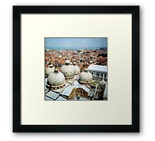 5 domes Framed Print