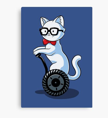 White and Nerdy Canvas Print