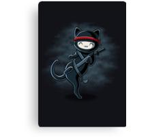 Ninja Cat Canvas Print