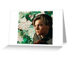 Young Leonardo DiCaprio Art Greeting Card