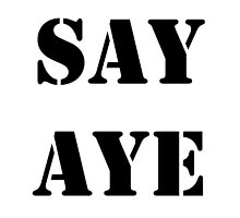 SAY AYE by James Chetwald Mattson