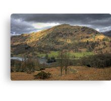 Rydal Water and Nab Scar Canvas Print