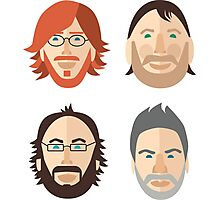 Trey, Fish, Mike, Page as Vector Characters Photographic Print