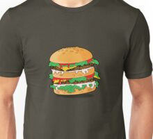Cartoon Hamburger Unisex T-Shirt