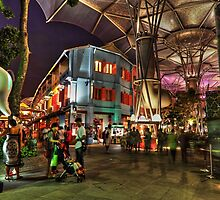 Entrance to Clarke Quay - Singapore by Holger Mader