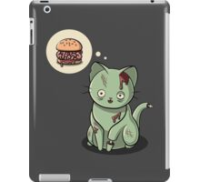 Zombie Cat Can Haz Brain Burger? iPad Case/Skin