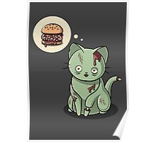 Zombie Cat Can Haz Brain Burger? Poster