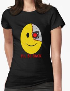 Terminator Smiley Face Womens Fitted T-Shirt