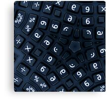 buttons on a really strange calculator Canvas Print