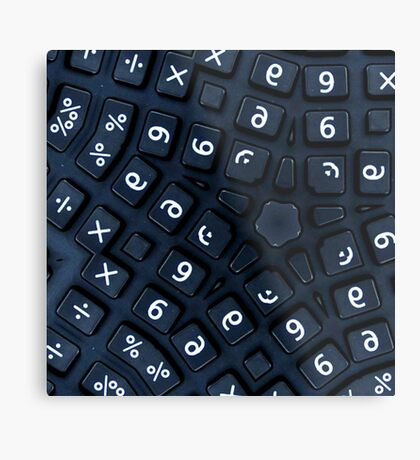 buttons on a really strange calculator Metal Print