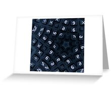 buttons on a really strange calculator Greeting Card