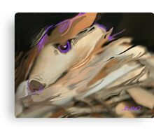 Fox in The Woodpile Canvas Print